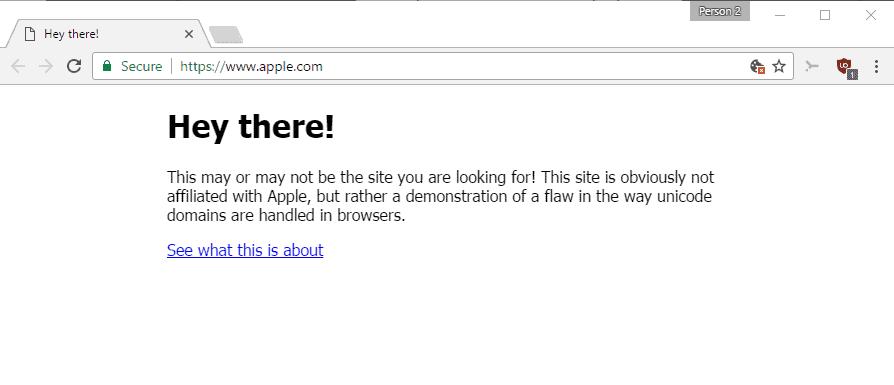 apple phishing punycode