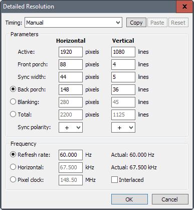 how to change display resolution to custom