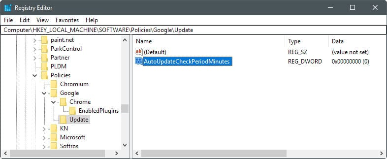 Chrome Manually Update