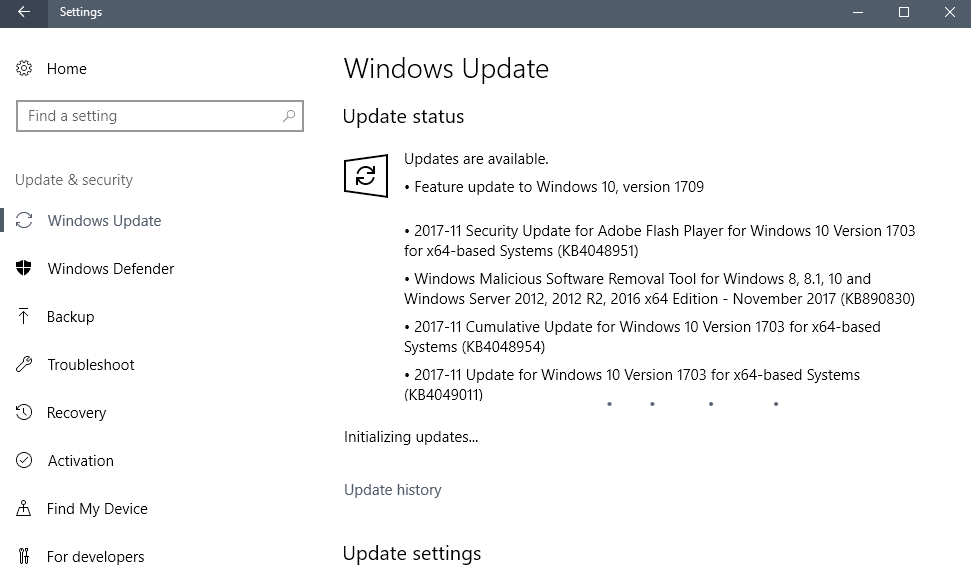 windows security updates november 2017