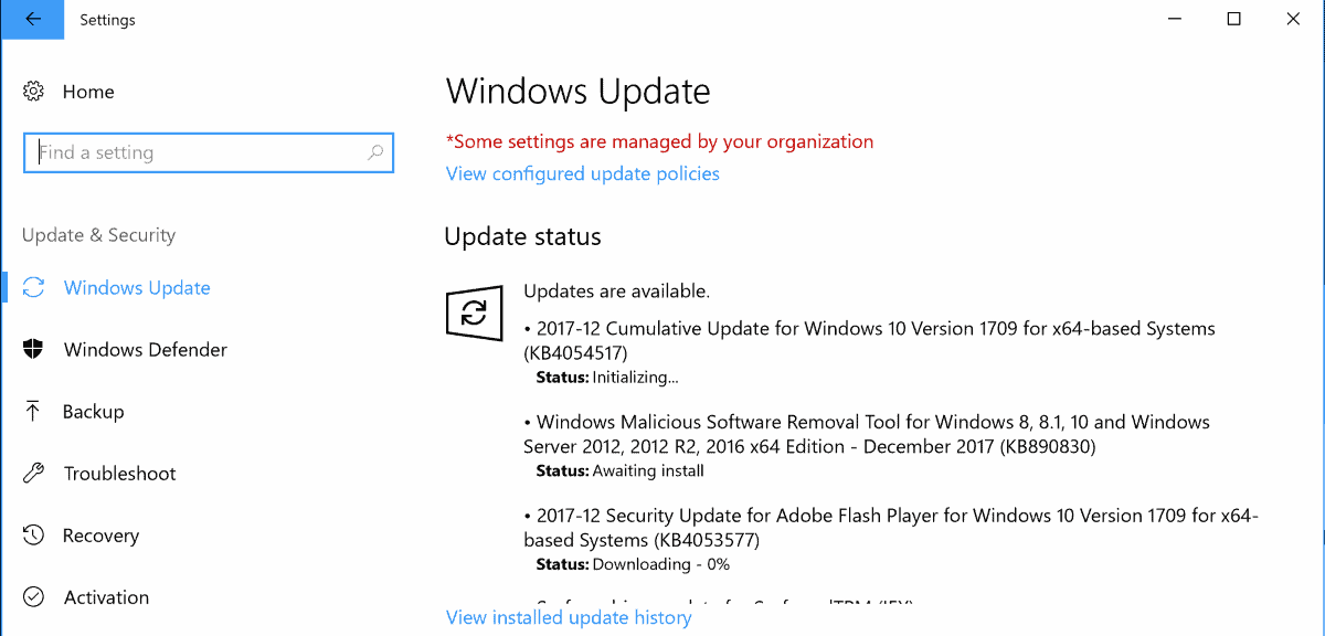 windows updates december 2017 security