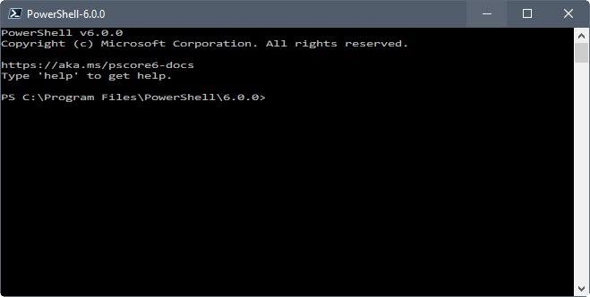 powershell 6.0.0