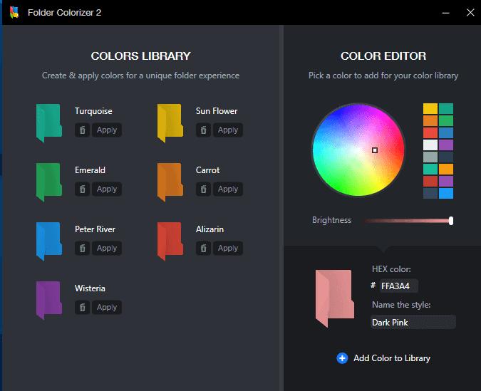 color menu