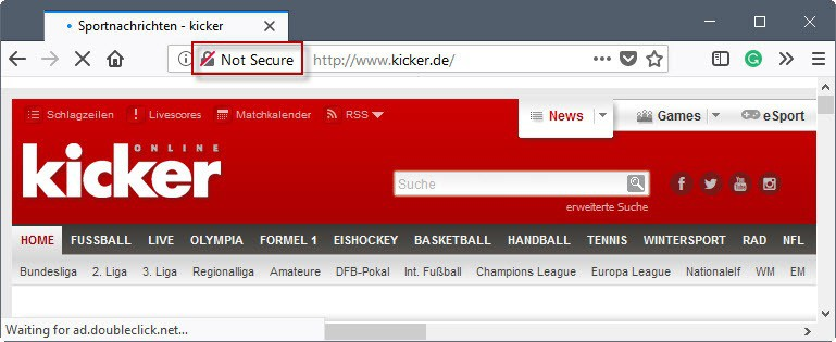 """Firefox 60: new """"not secure"""" indicator preferences"""