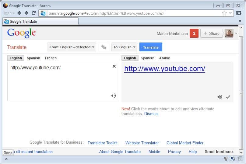 Filter proxy google
