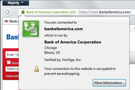 bank secure website