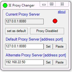 ie proxy changer