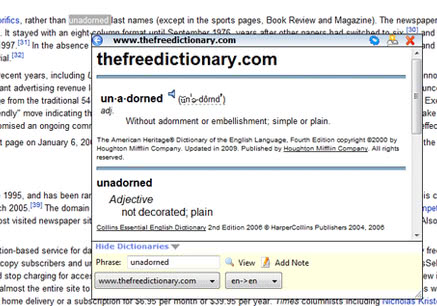 dictionary tooltip