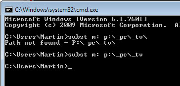 subst virtual drives folders