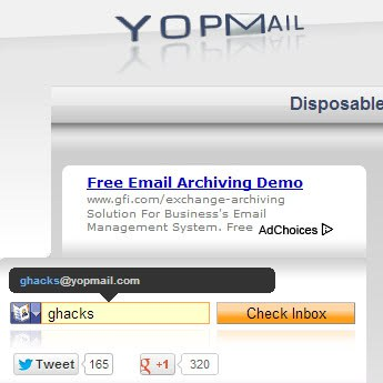 yopmail one way emails