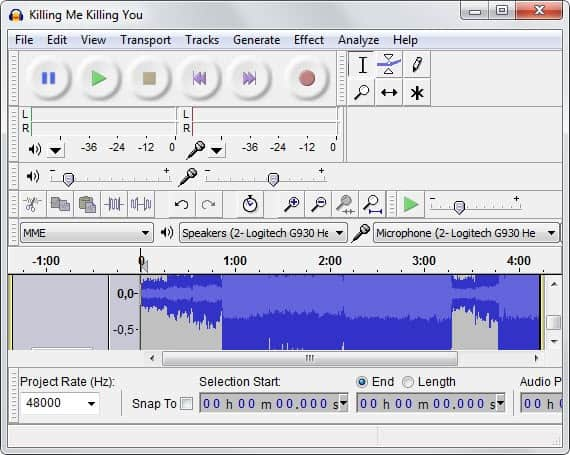 audacity mp3 ringtones