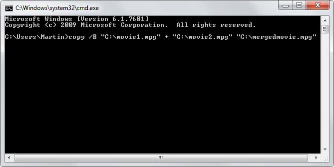 merge video files