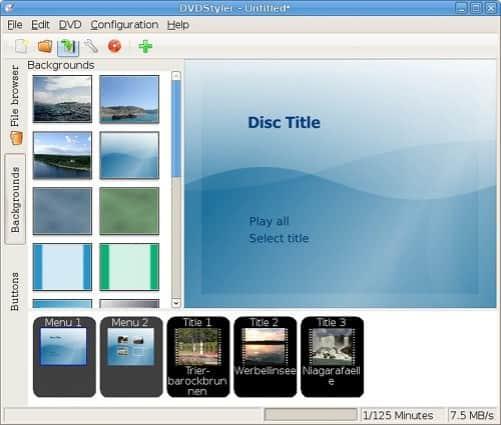 DVD styler create avi to dvd