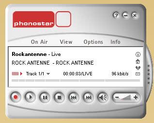 phonostar record internet radio