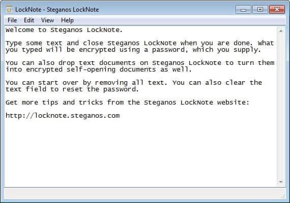 steganos locknote