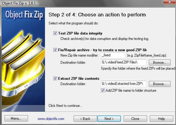 object fix zip