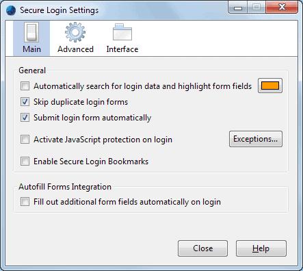 secure login settings