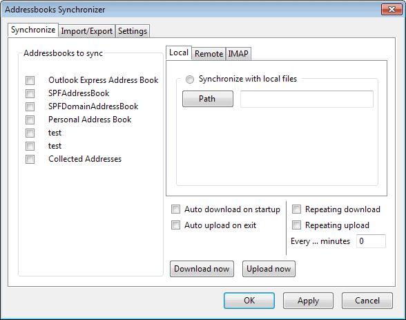 addressbook synchronizer