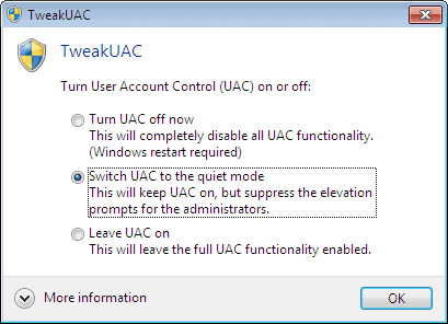 TWEAK UAC