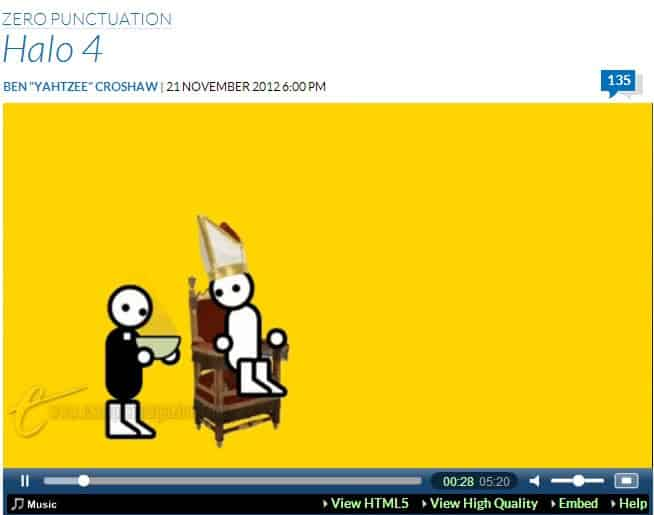 Zero Punctuation video game reviews