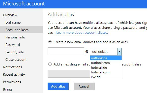 create live mail email address