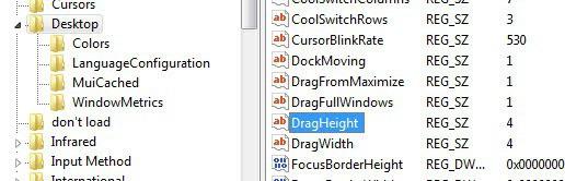 dragheight dragwidth
