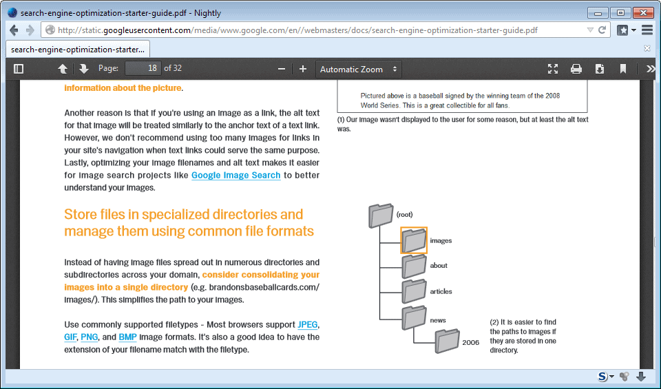 pdf file open in browser