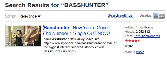 basshunter youtube