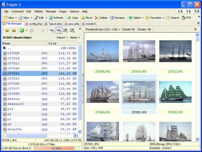 frigate3 file manager