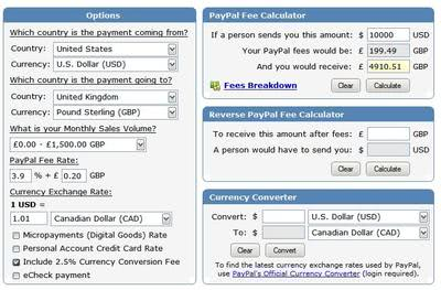 Online Paypal Fee Calculator