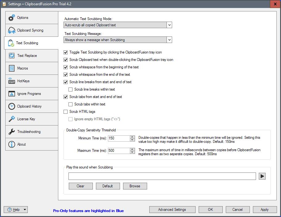 clipboard fusion settings