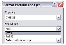 format usb drive ntfs