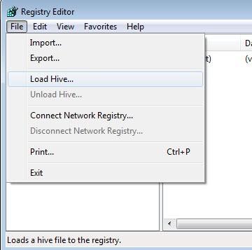 registry load hive