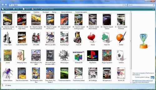 vista game explorer editor
