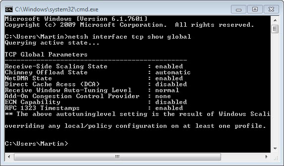 windows slow network performance