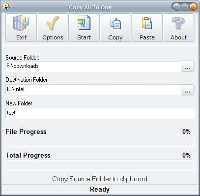 copy all to folder