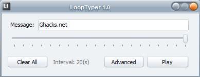 loop typer