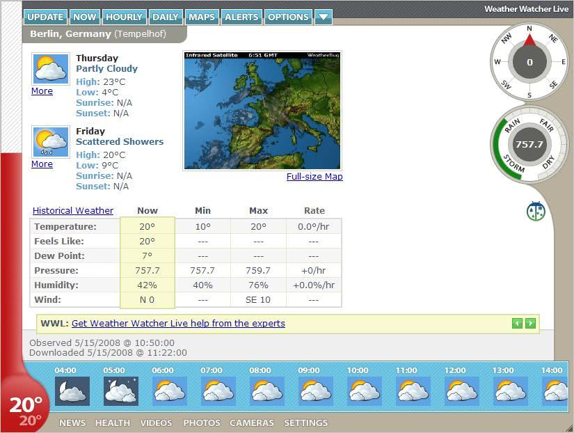 Weather Watcher Live Ghacks Tech News