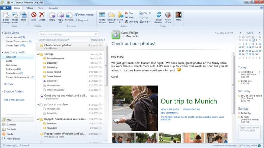 how to delete windows mail windows vista