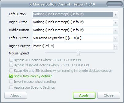 mouse button control