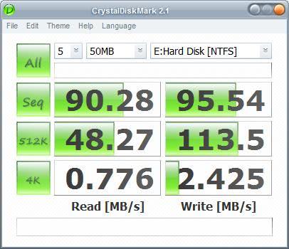 samsung hard drive benchmark
