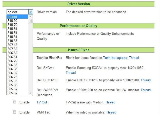 nvidia driver notebook screenshot