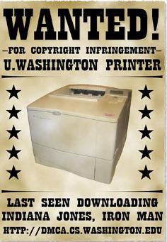 printer takedown notice