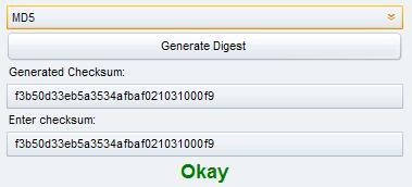 hash algorithm check