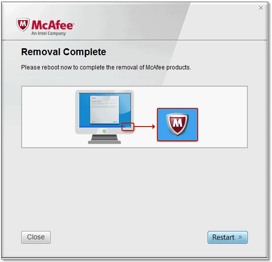 McAfee Consumer Product Removal Tool