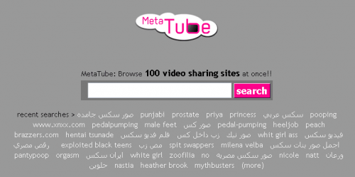 Use MetaTube to Search 100 Video Sharing Sites