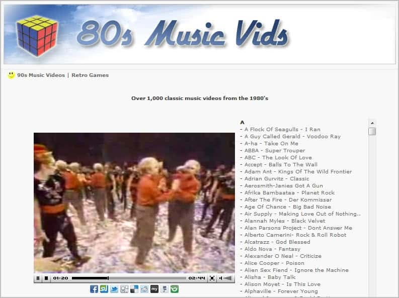 Music videos from the 80 39 s ghacks tech news for 80 s house music list