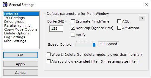 fast copy options