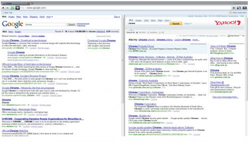 google chrome dual view