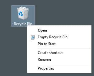 rename recycle bin